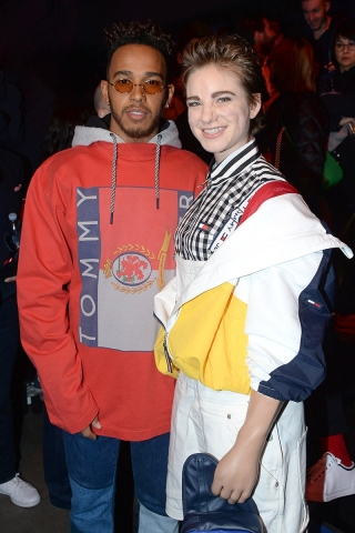 Lewis Hamilton and Beatrice Vio