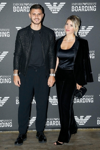 Mauro Icardi and Wanda Nara