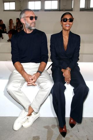 Vincent Cassel and Tina Kunakey